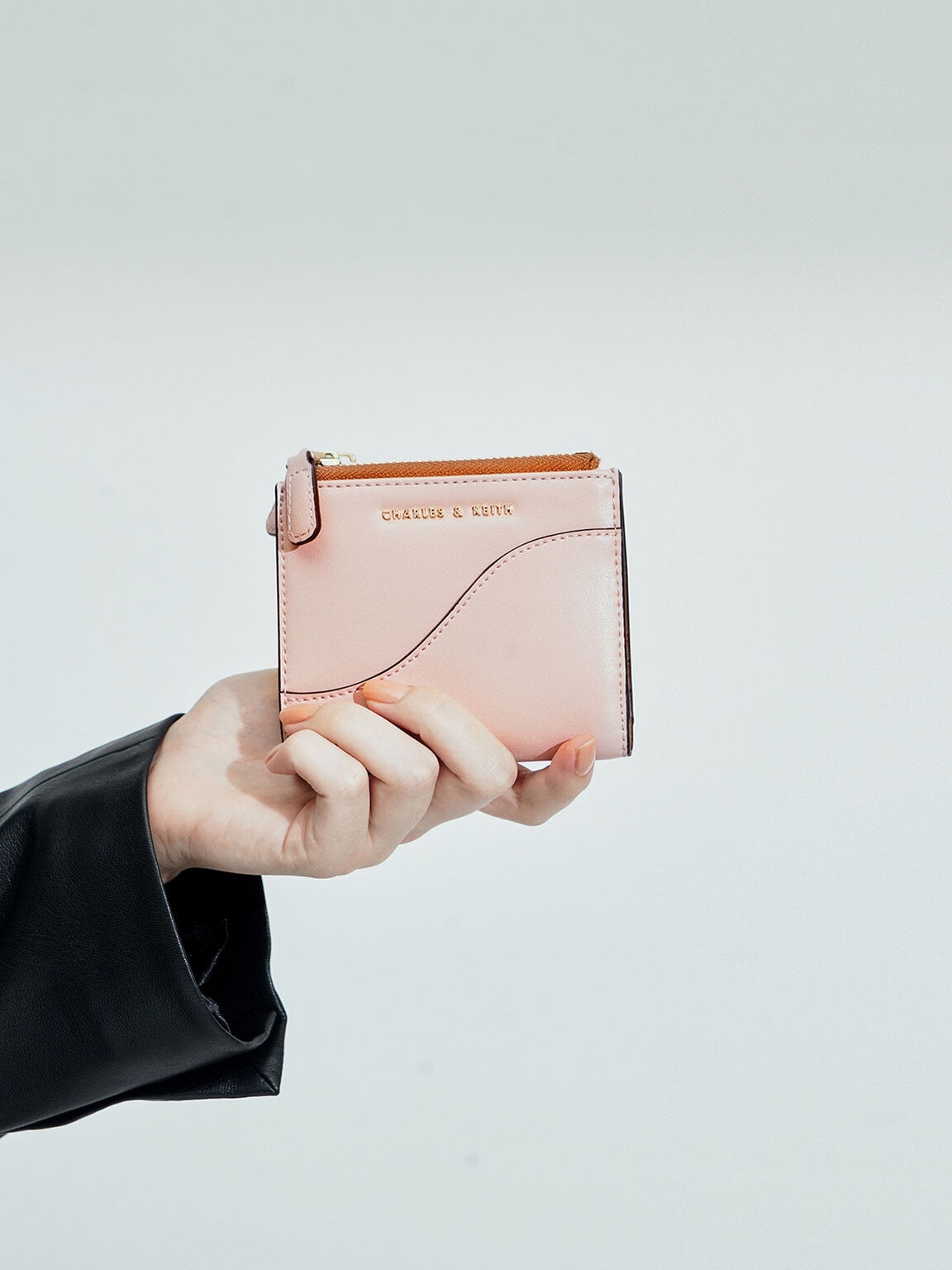Top Zip Mini Wallet, Pink, hi-res
