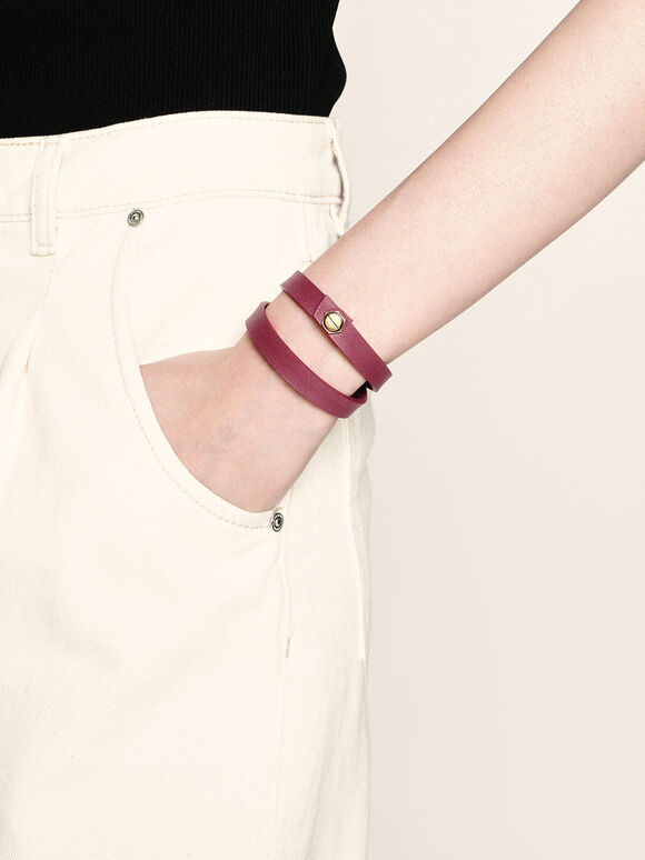 Wrap Around Bracelet, Berry, hi-res