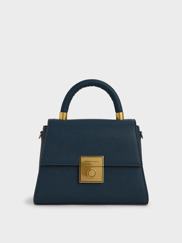 Trapeze Top Handle Bag, Blue, hi-res