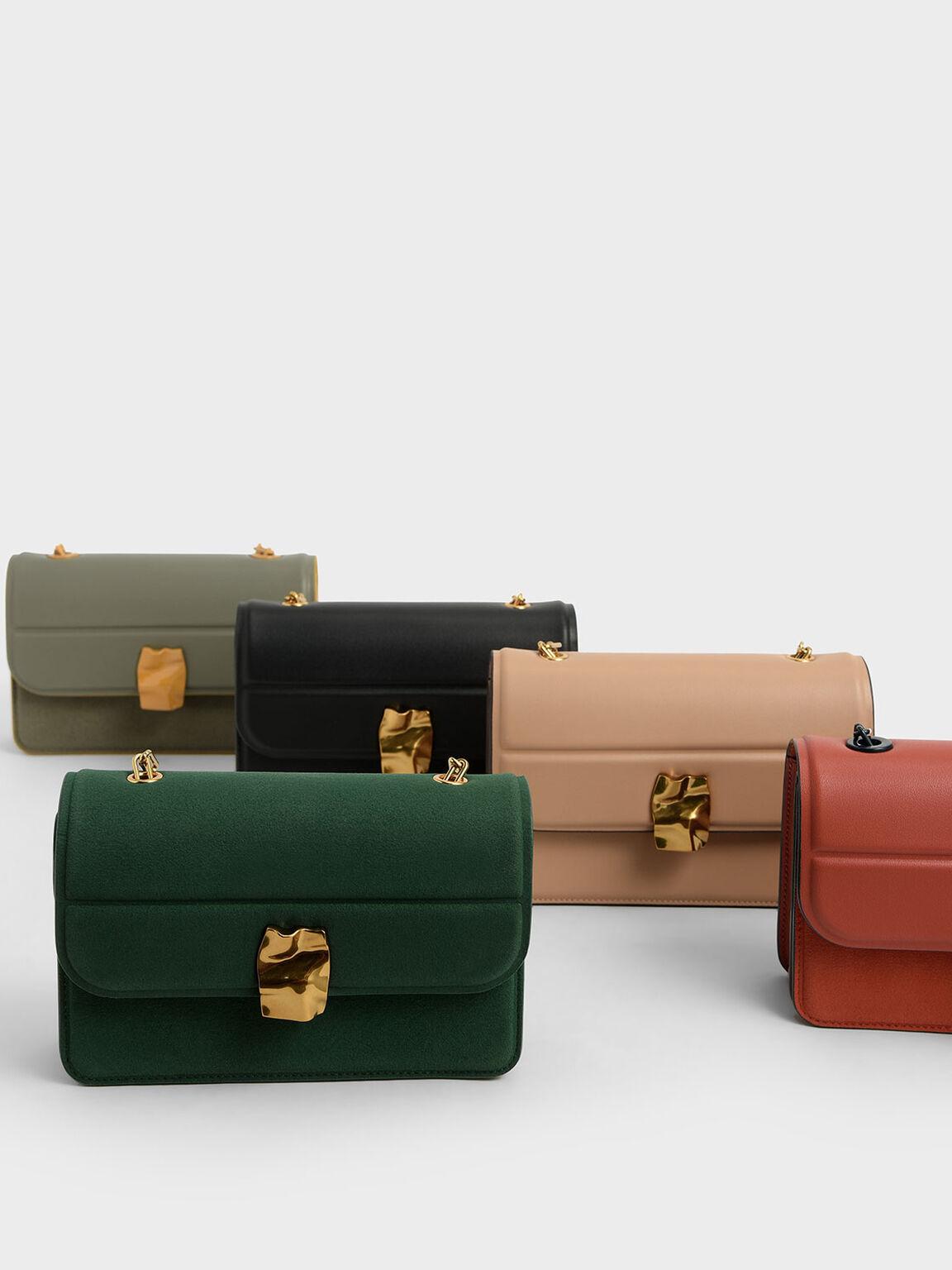 Textured Mini Wallet, Green, hi-res