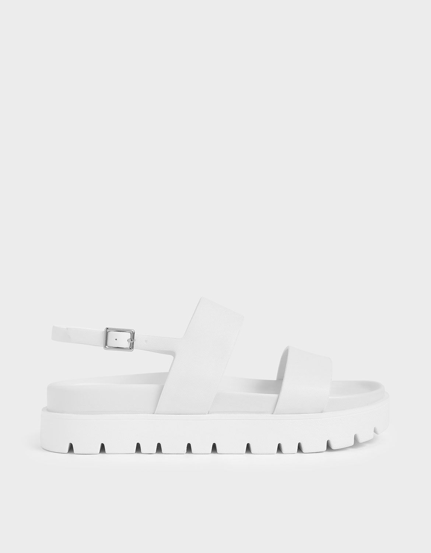 White Flatform Sandals | CHARLES \u0026 KEITH EU