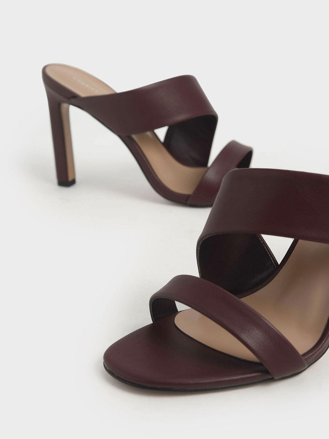 Asymmetric Strap Mules, Prune, hi-res