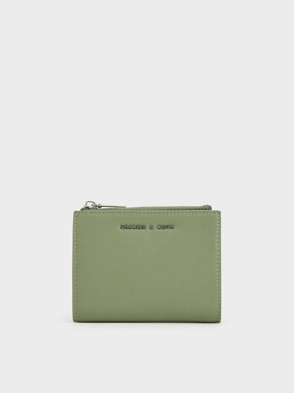 Mini Top Zip Small Wallet, Sage Green, hi-res