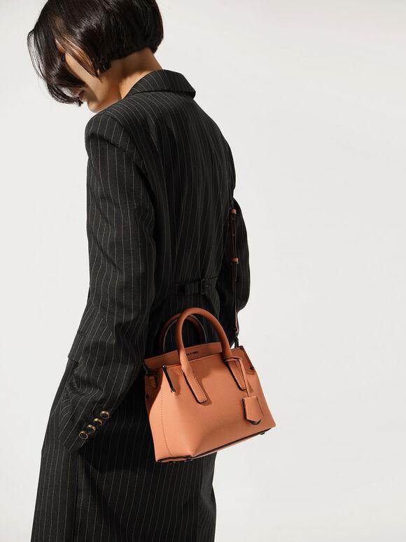 Double Handle Tote Bag, Peach, hi-res