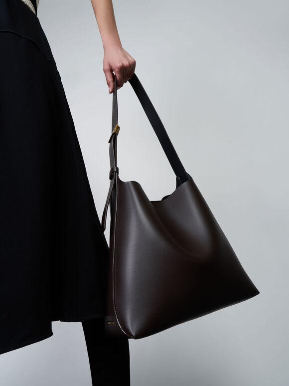 Single Handle Large Hobo Bag, Dark Oak, hi-res
