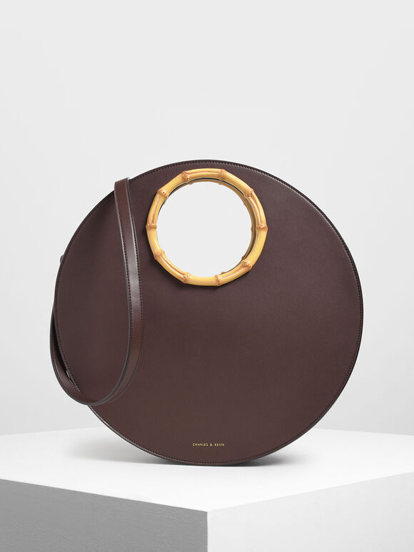 Circular Bag, Brown, hi-res