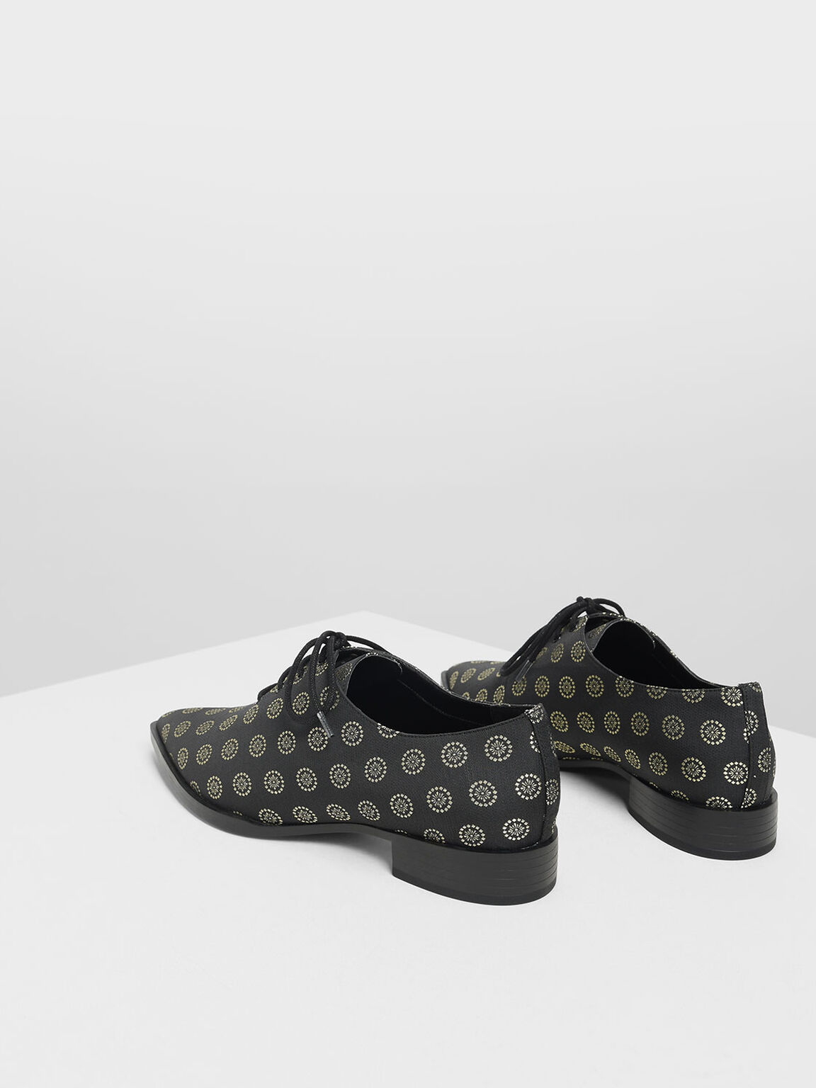Pointed Oxfords, Black Textured, hi-res