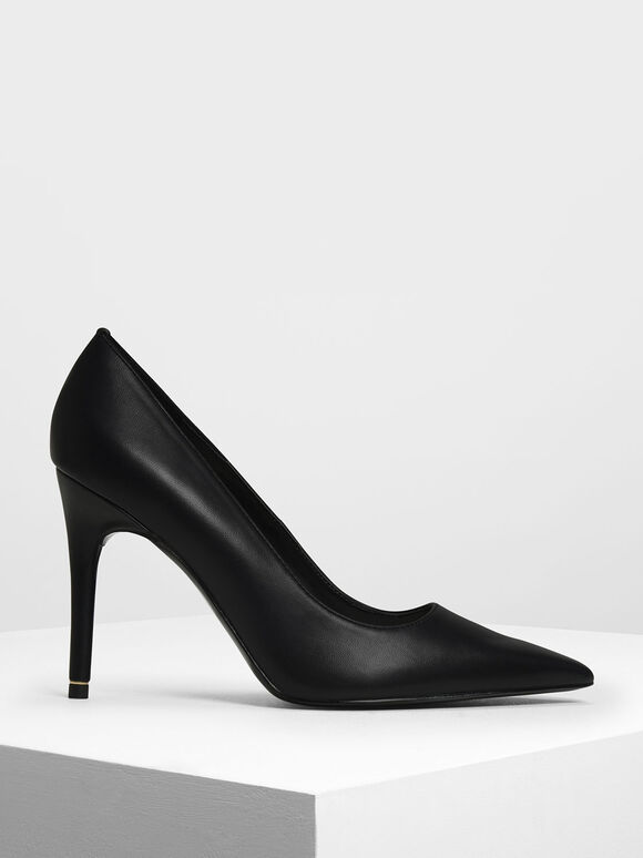 Pointed Toe Pumps, Black, hi-res