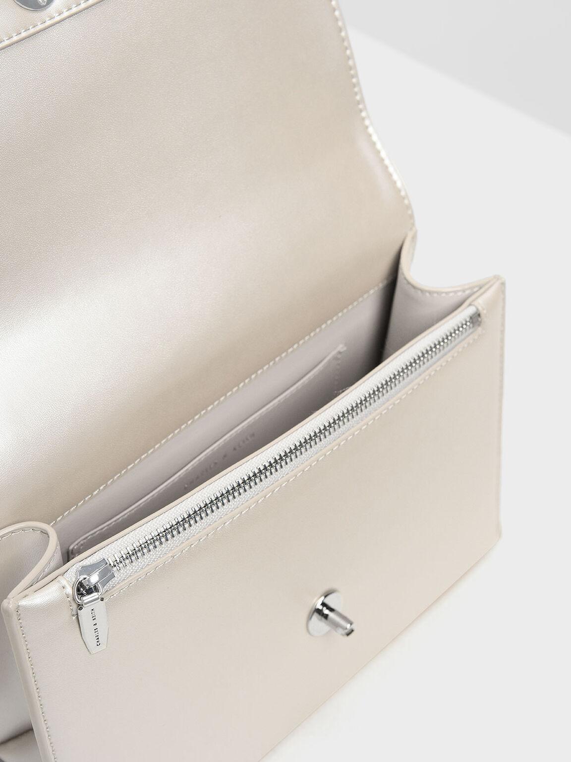 Classic Push Lock Bag, Pearl, hi-res
