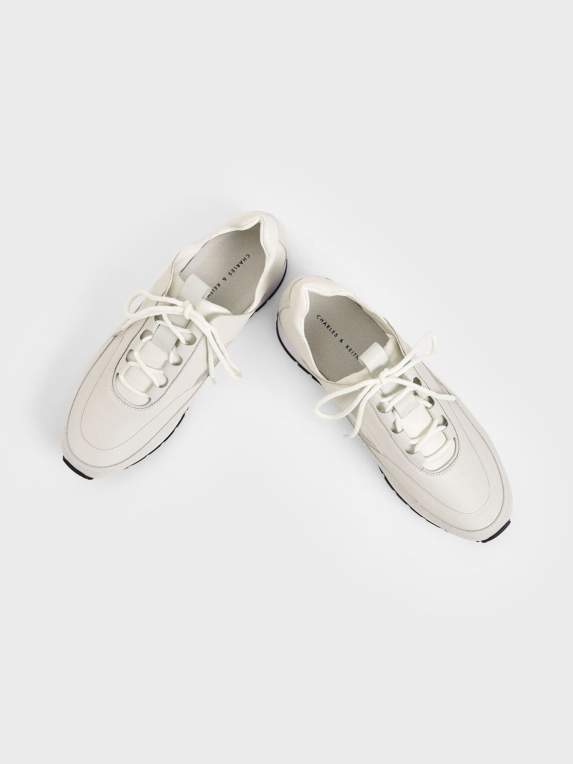 Lace-Up Trainers, White, hi-res