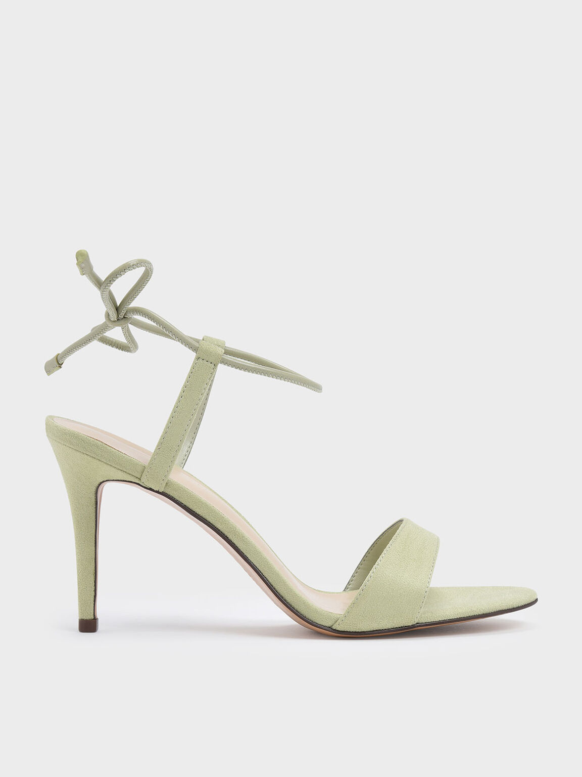 Ankle Tie Stiletto Sandals, Green, hi-res