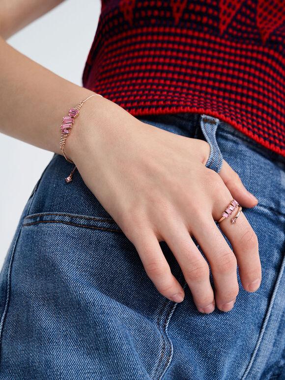 Swarovski® Crystal Embellished Chain Bracelet, Rose Gold, hi-res