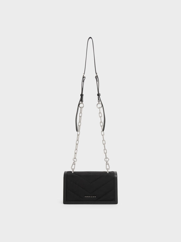 The Anniversary Series: Sonia Recycled Nylon Padded Wallet, Black, hi-res