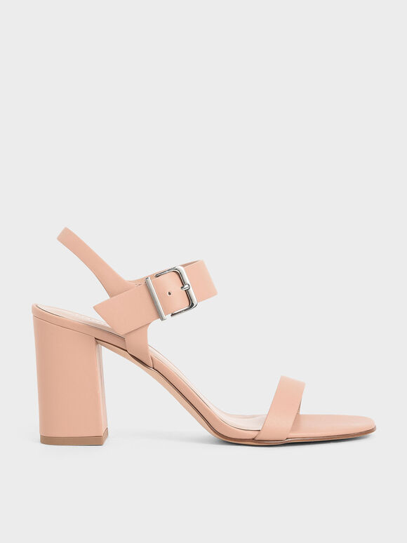 Block Heel Sandals, Nude, hi-res