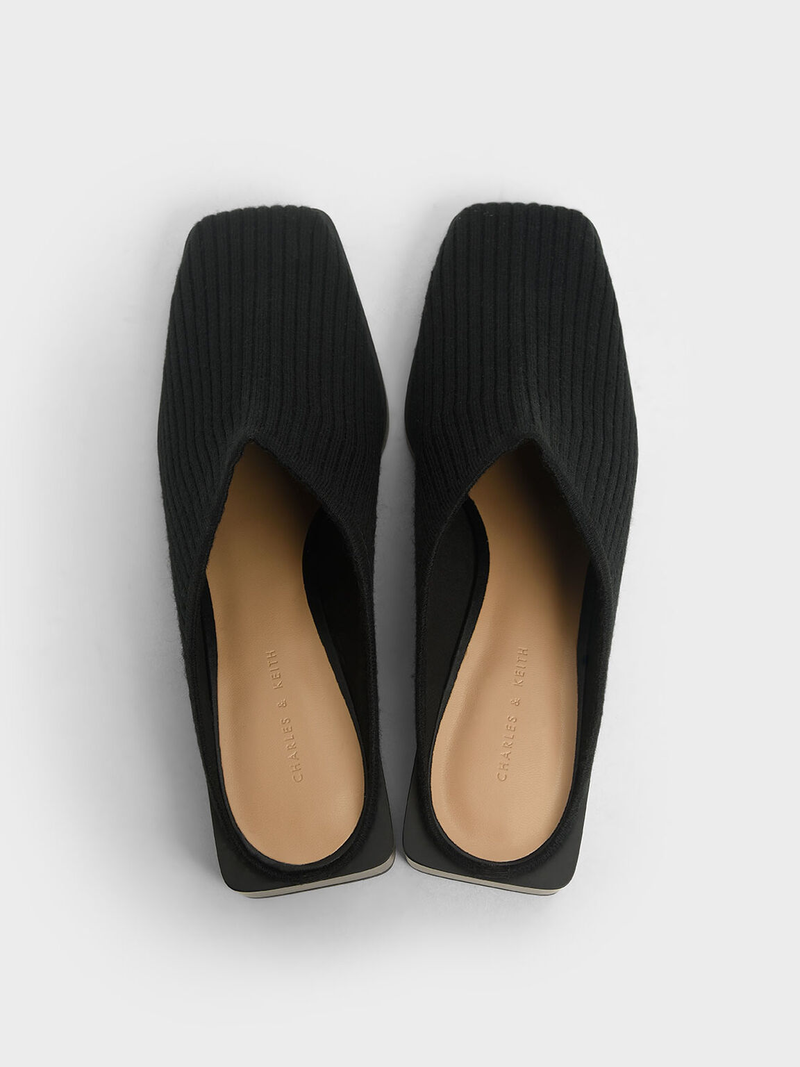 Knitted Mules, Black, hi-res