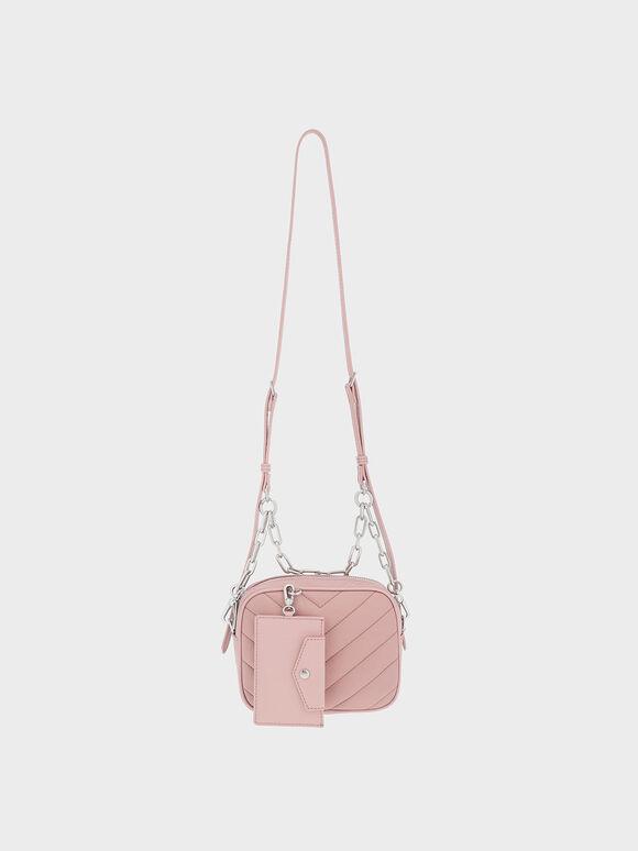 The Anniversary Series: Sonia Recycled Nylon Boxy Bag, Pink, hi-res