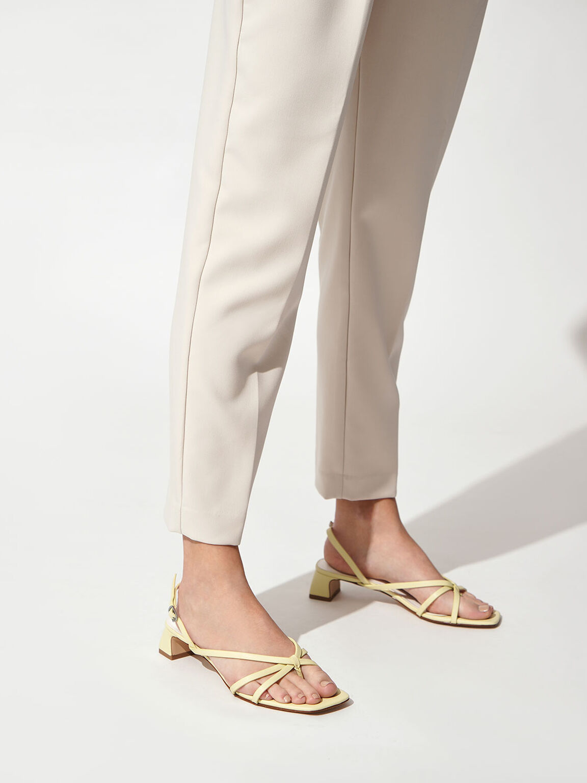 Strappy Sandals, Yellow, hi-res