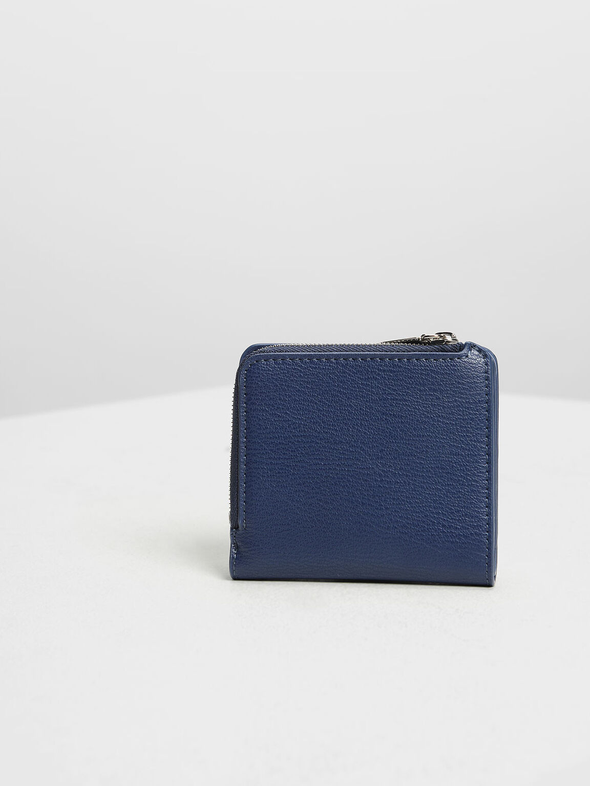 Classic Snap Button Card Holder, Dark Blue, hi-res