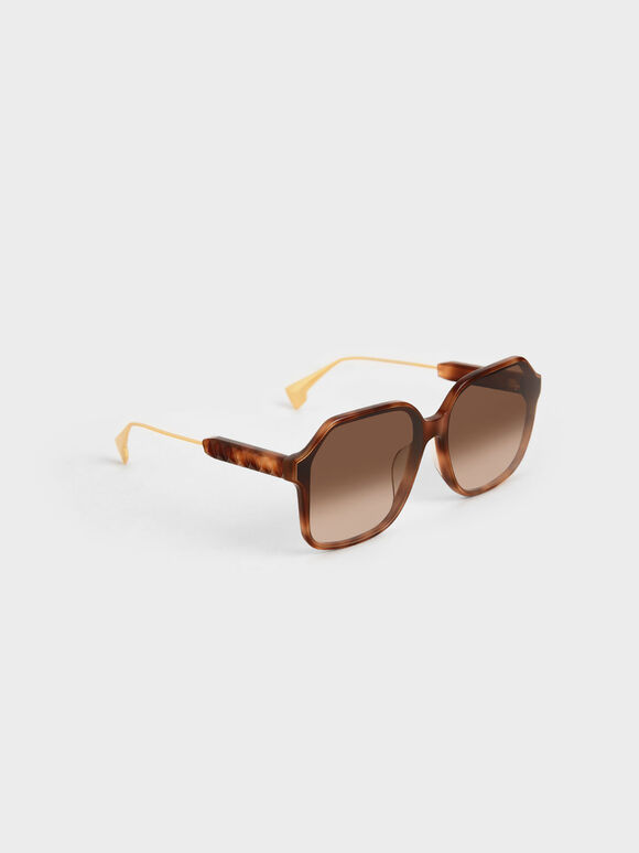 Acetate Butterfly Sunglasses, T. Shell, hi-res