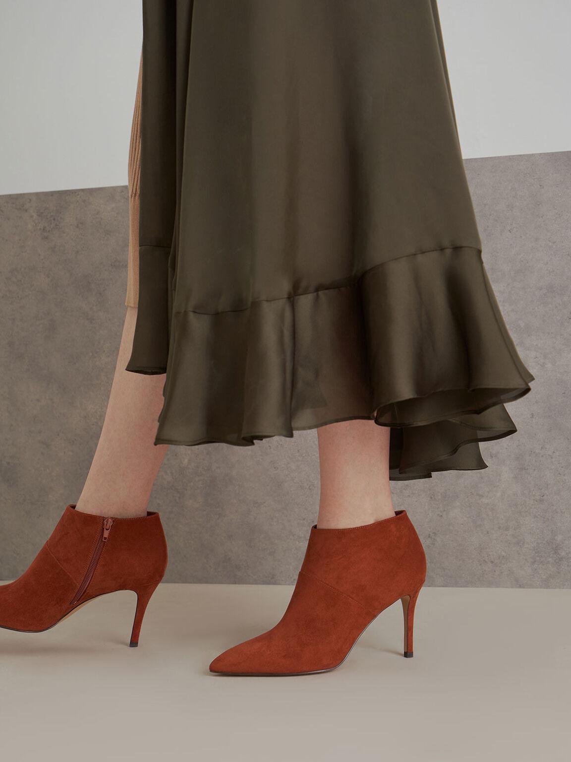 Stiletto Ankle Boots, Brick, hi-res