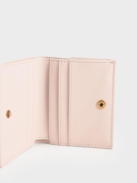 Zip Around Short Wallet, Light Pink, hi-res