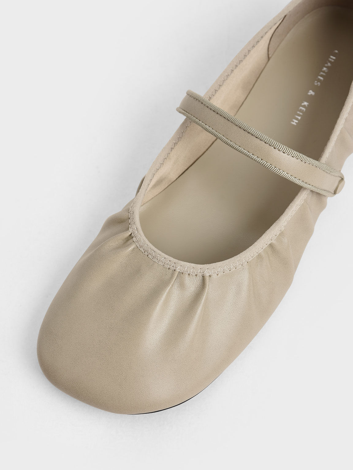 Mary Jane Flats, Taupe, hi-res