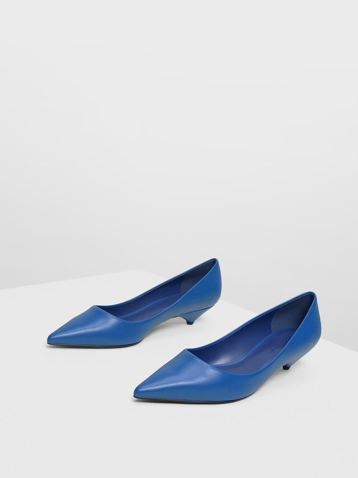Classic Kitten Heel Pumps, Blue, hi-res