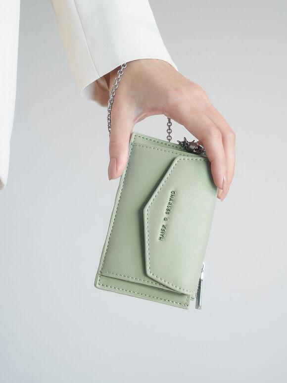 Woven Multi-Slot Card Holder, Mint Green, hi-res
