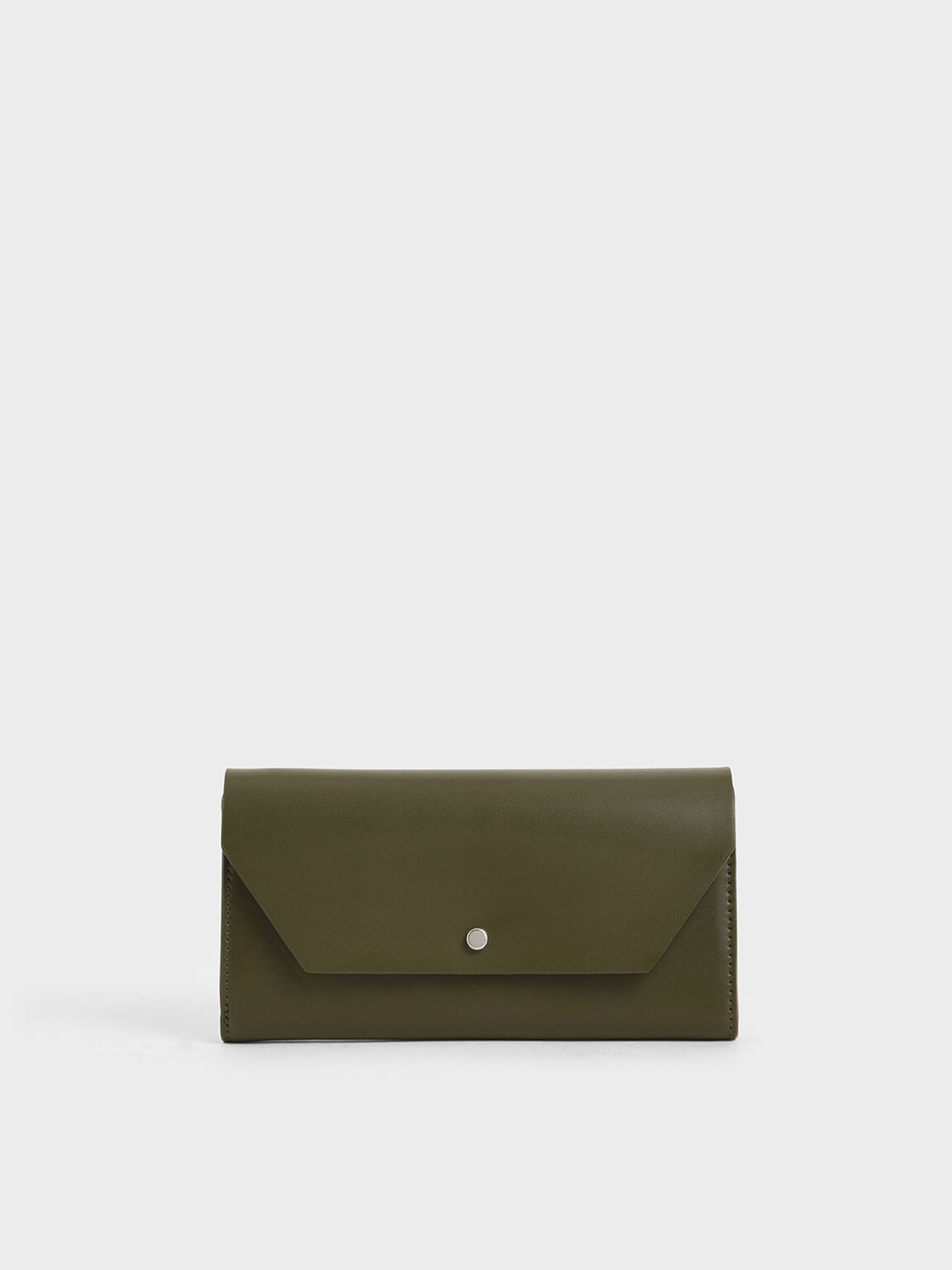 Reversible Front Flap Mini Long Wallet, Olive, hi-res