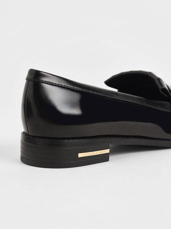 Frill Loafers, Black, hi-res
