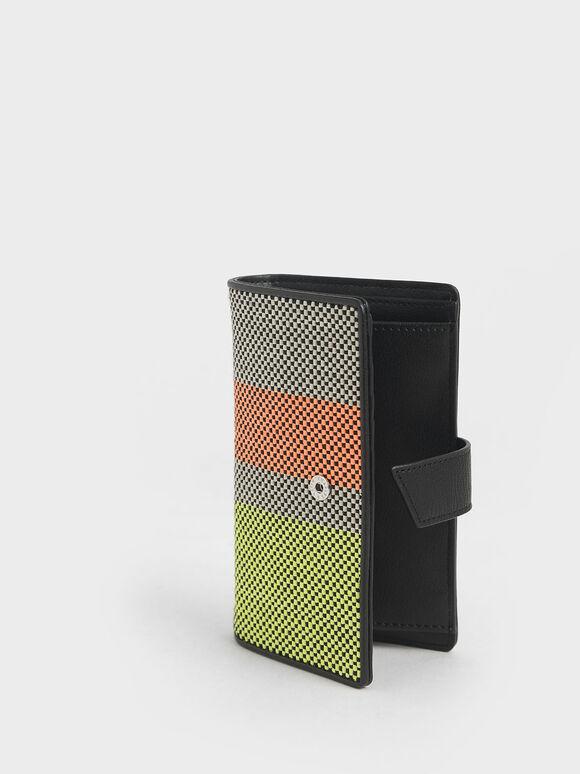 Snap Button Wallet, Multi, hi-res