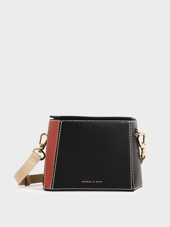 Two-Tone Boxy Bag, Black, hi-res