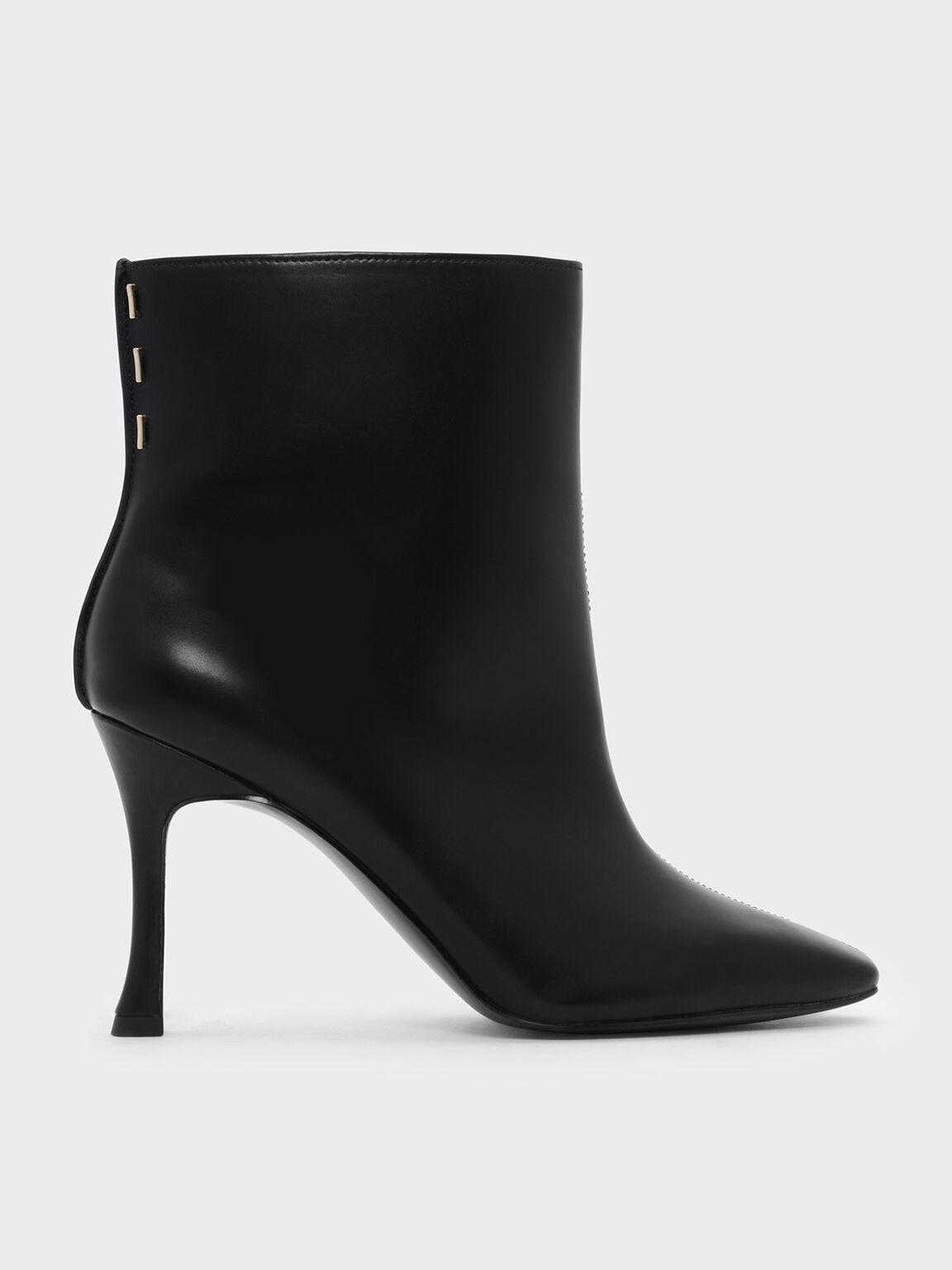 Mini Square Toe Boots, Black, hi-res