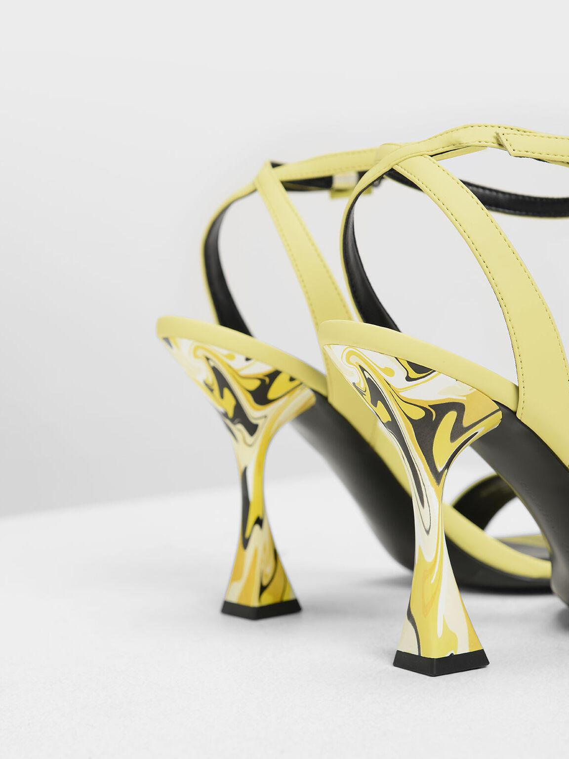 Sculptural Heels, Yellow, hi-res