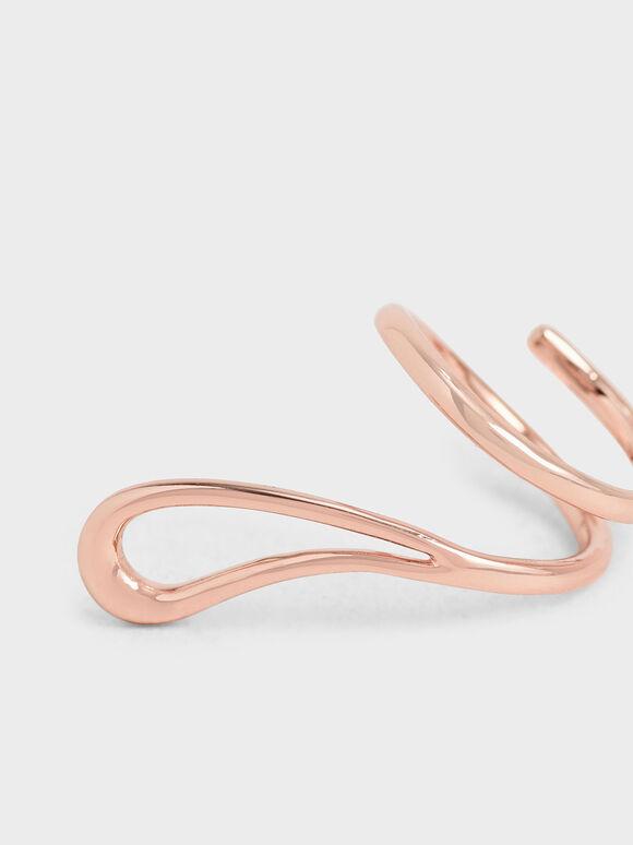 Sculptural Loop Ring, Rose Gold, hi-res