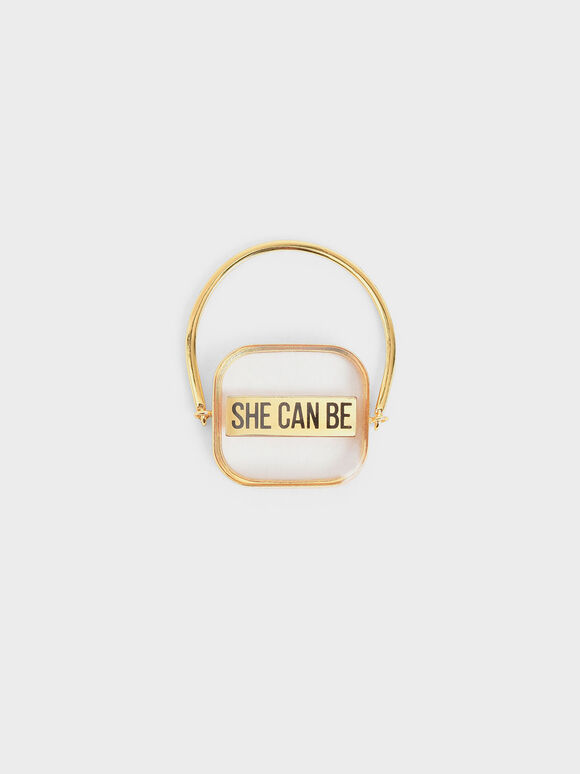 """She Can Be"" Ring, Gold, hi-res"