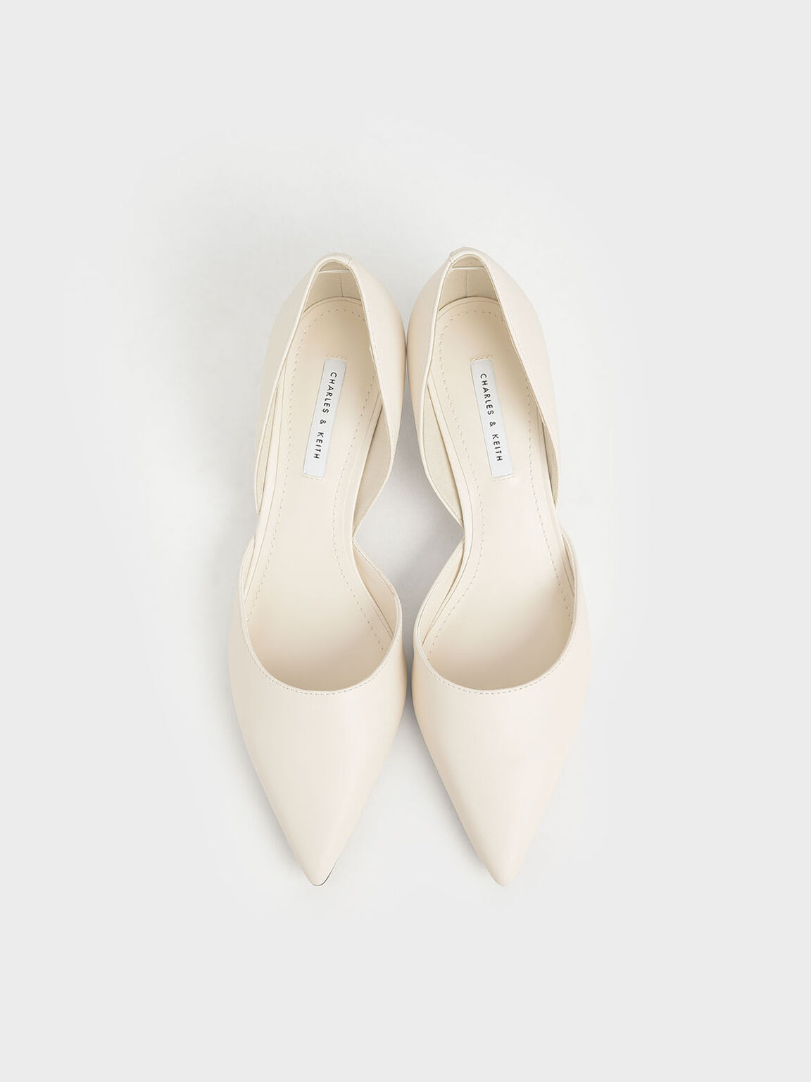 D'Orsay Block Heel Pumps, Chalk, hi-res