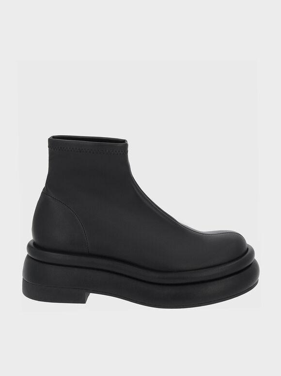 Nola Slip-On Ankle Boots, Black, hi-res