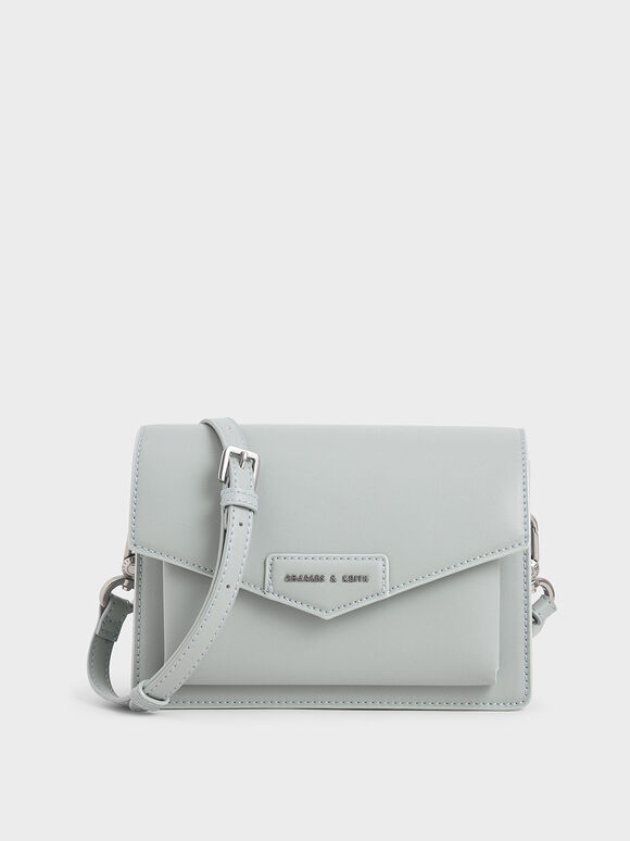 Envelope Crossbody Bag, Light Blue, hi-res