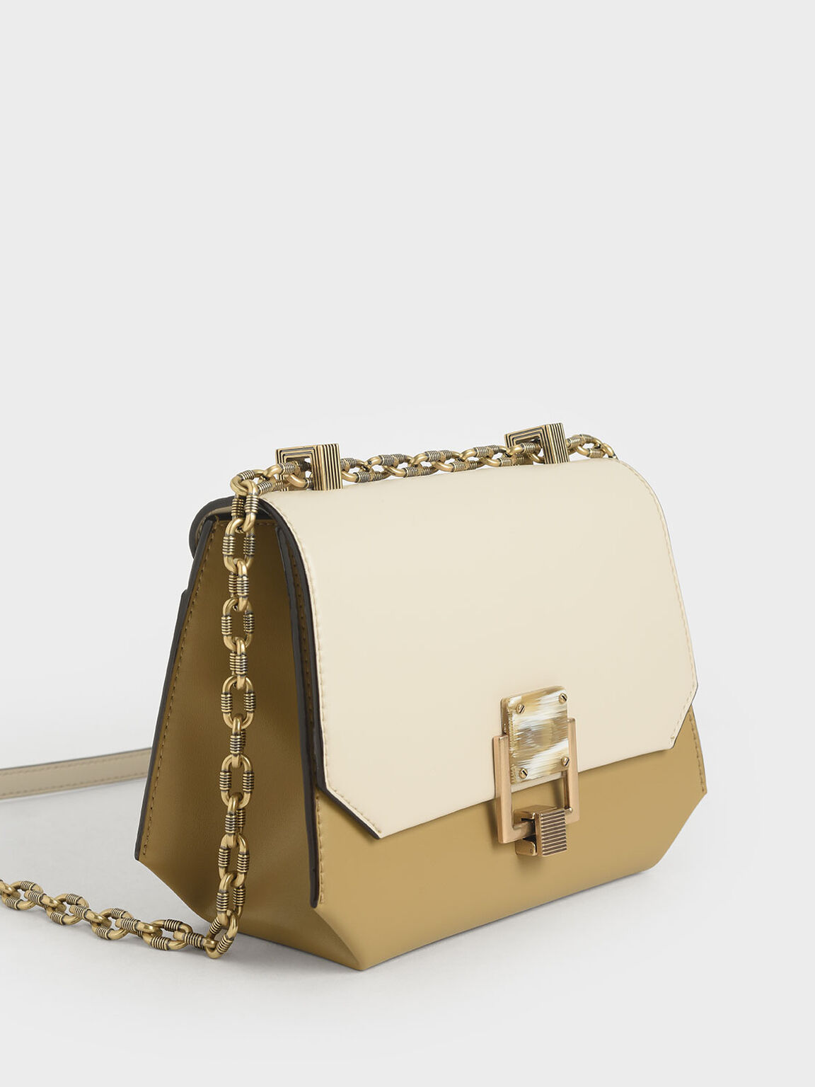 Chain Handle Geometric Crossbody Bag, Multi, hi-res