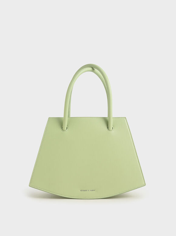 Curved Tote Bag, Mint Green, hi-res