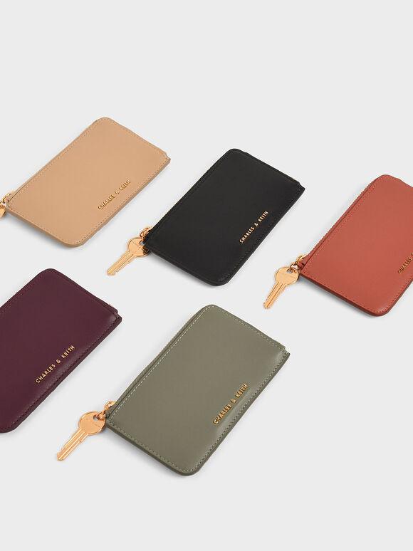 Zip Around Mini Wallet, Black, hi-res