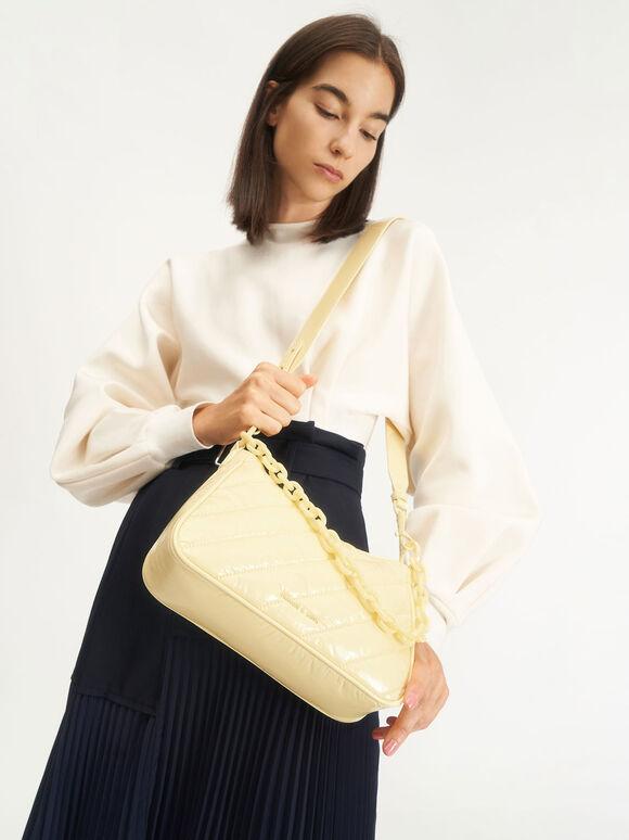Glow-In-The-Dark Crossbody Bag, Butter, hi-res