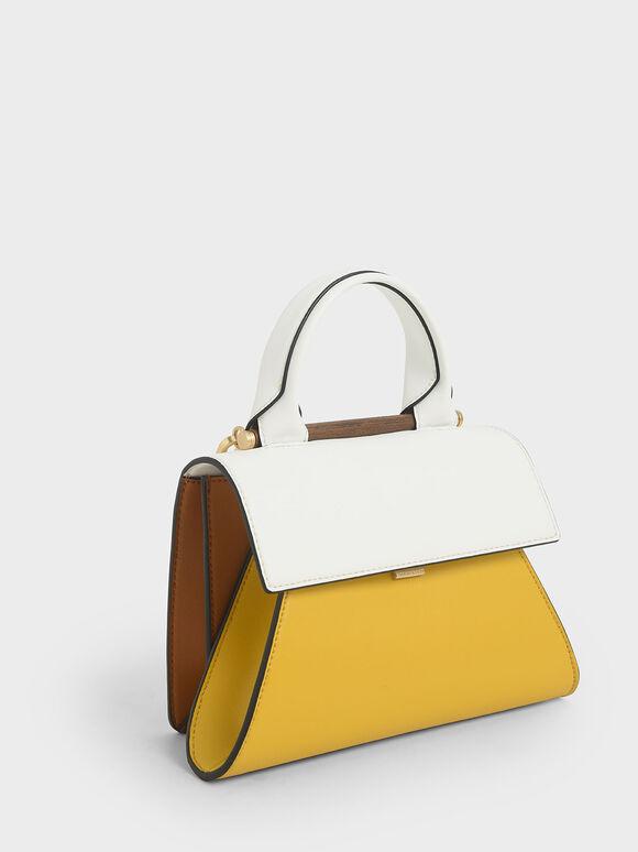 Small Two-Tone Sculptural Bag, Multi, hi-res