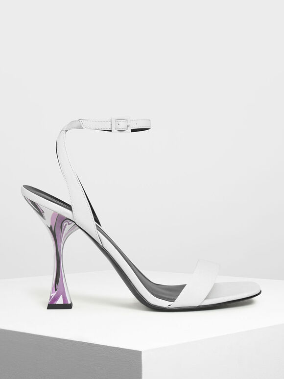 Sculptural Heels, White, hi-res