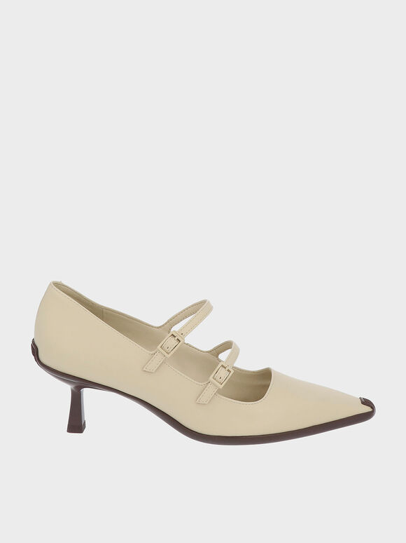 Double Strap Mary Jane Pumps, Sand, hi-res