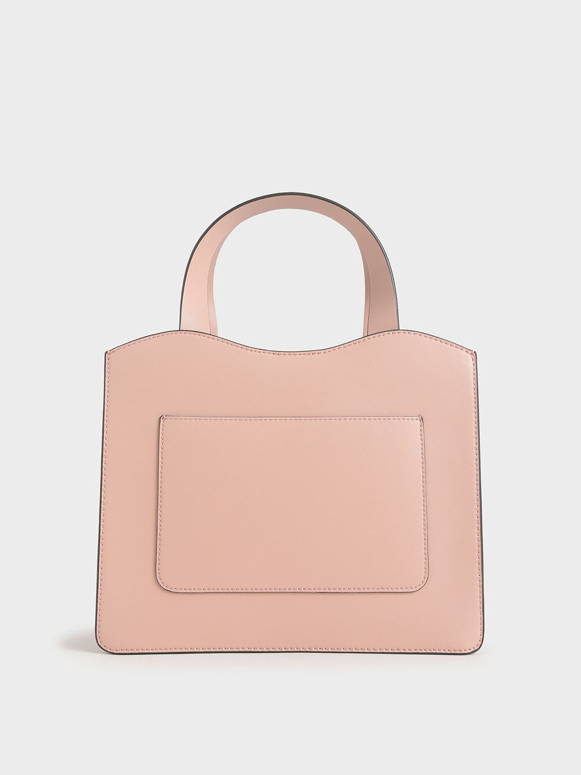Front Pocket Double Top Handle Bag, Pink, hi-res