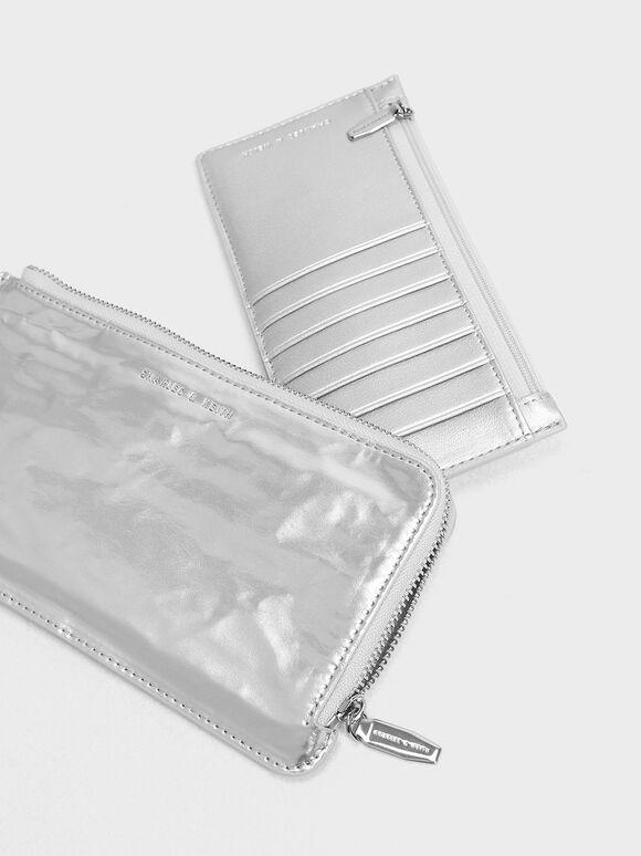 L-Zip Wallet, Silver, hi-res