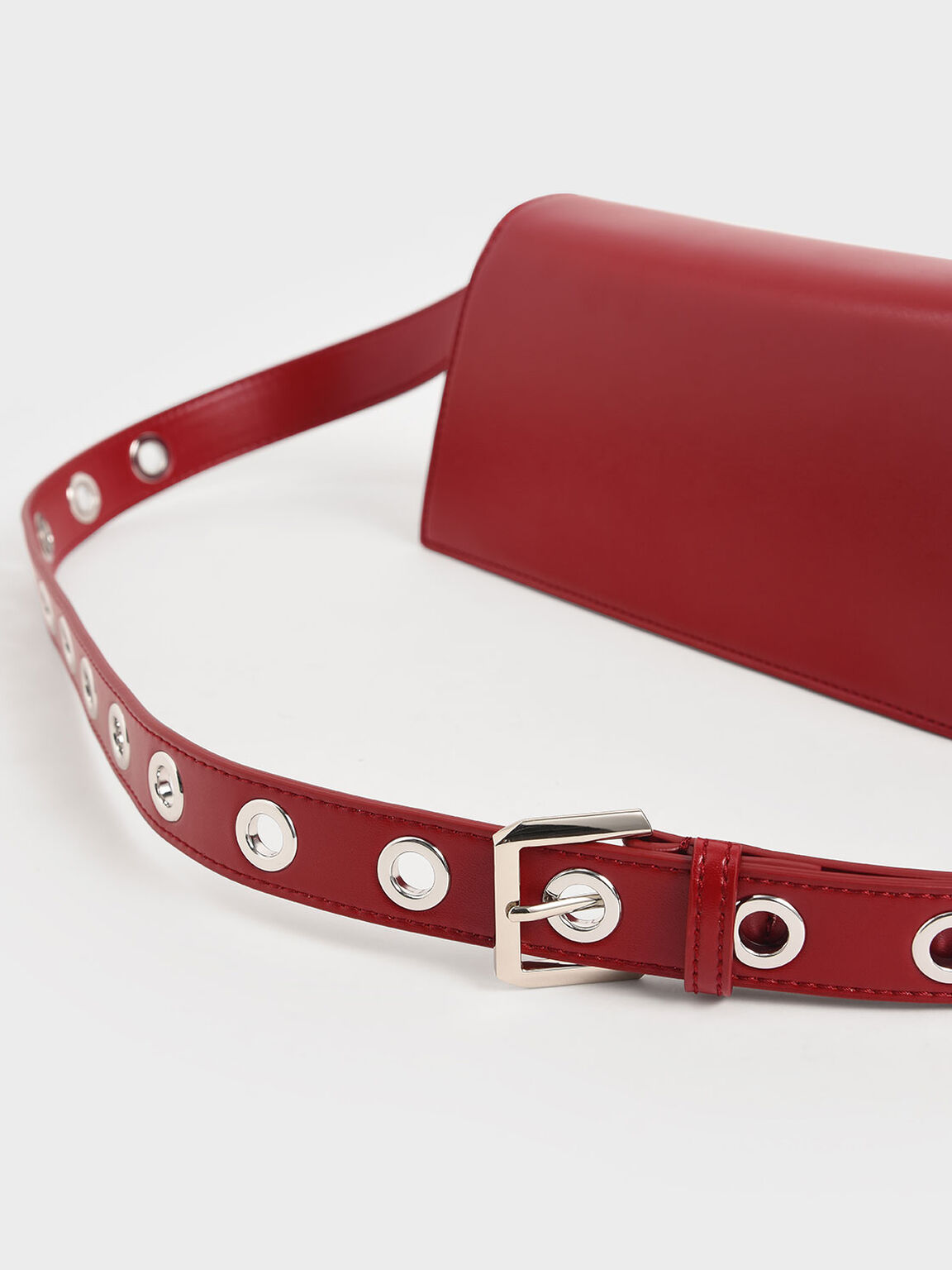 Trapeze Shoulder Bag, Red, hi-res