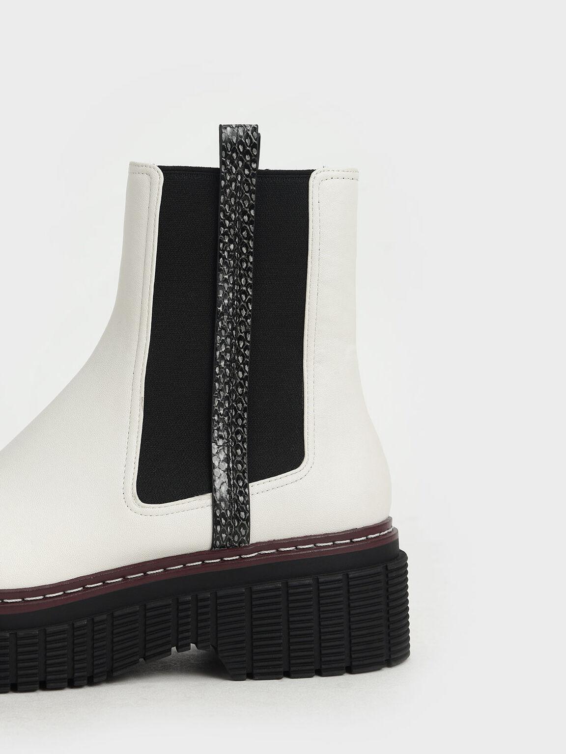 Stitch Trim Platform Chelsea Boots, Multi, hi-res